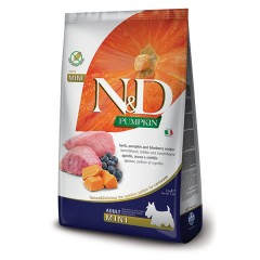 ND PUMPKIN LAMB & BLUEBERRY ADULT MINI (2.5/7 kg)