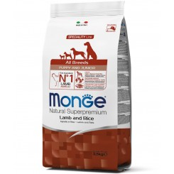 MONGE PUPPY&JUNIOR ALL BREED LAMB&RICE (2.5 kg)